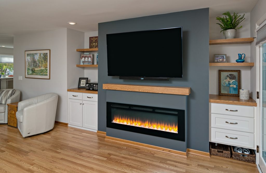 Oakwood fireplace